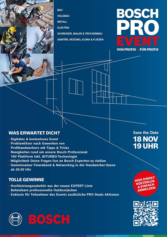Bosch Pro Event 18. November 2021